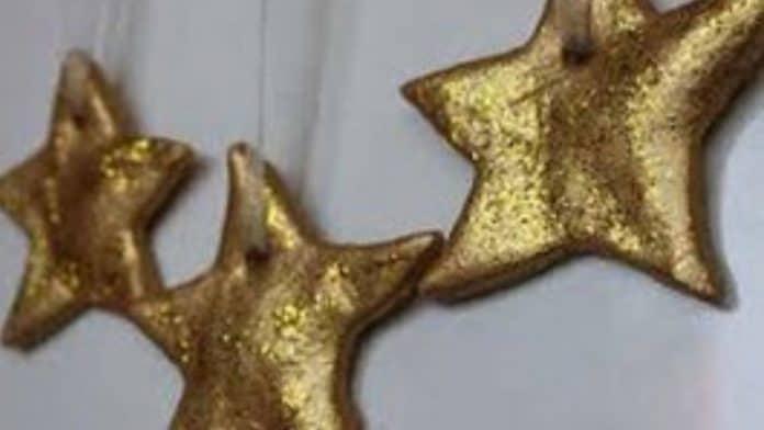 χριστουγεννιάτικα στολίδια από αλατοζύμη