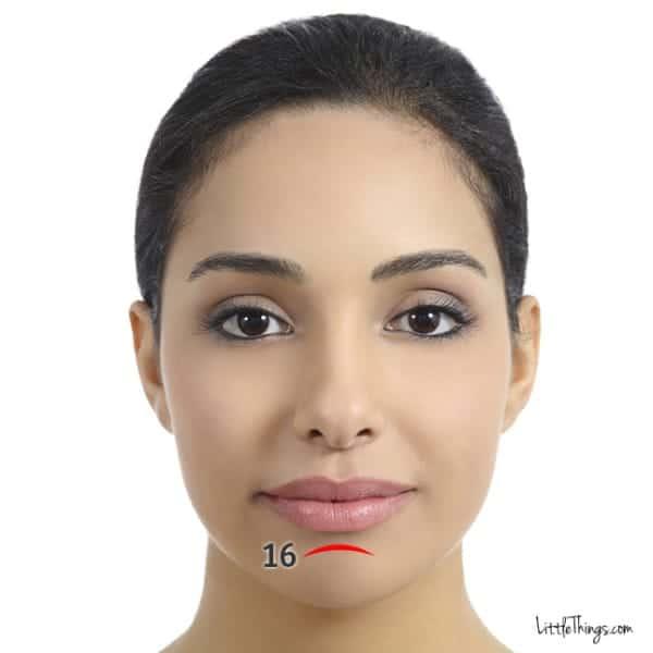 Ρυτίδα κάτω χείλος