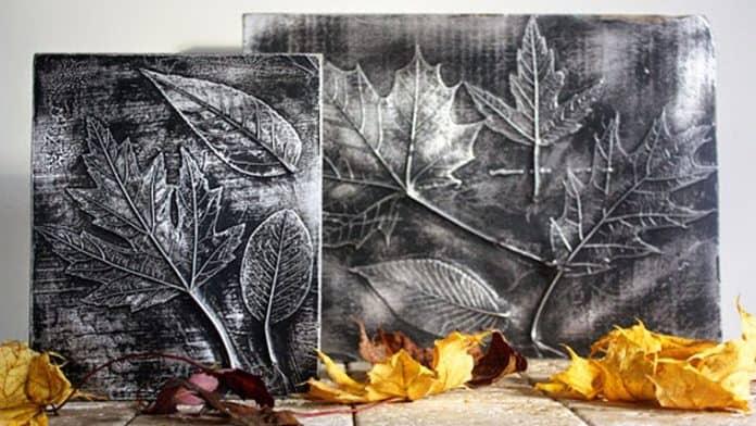 Πίνακες με φύλλα και αλουμινόχαρτο