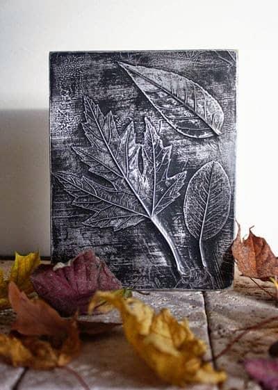 Πίνακες με φύλλα κι αλουμινόχαρτο 1