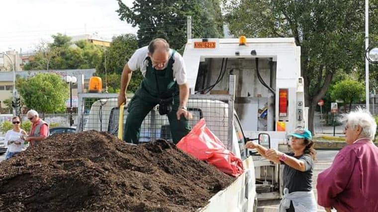 Δωρεάν παροχή κομποστ για τους κήπους απο τον Δήμο Ηλιούπολης