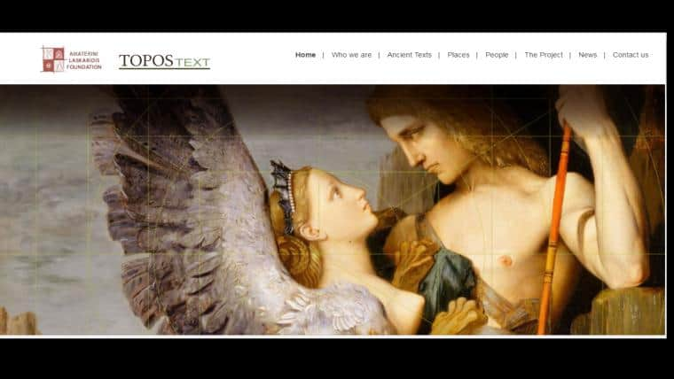 ToposText   Μια εφαρμογή περιήγησης στον ελληνικό πολιτισμό