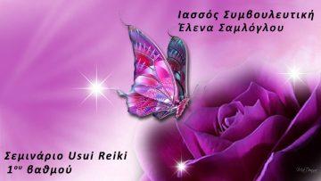 Σεμινάριο - Συντονισμός Reiki (Ρέϊκι) 1ου βαθμού | Έλενα Σαμλόγλου